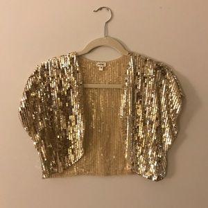 Moyna Gold Sequin Bolero - Size S (EUC)